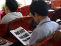 Participant studying ppt translation